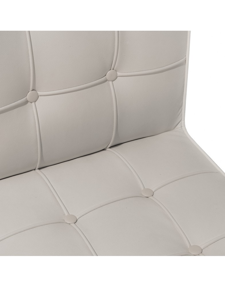 Pandora White Leather Dining Chair